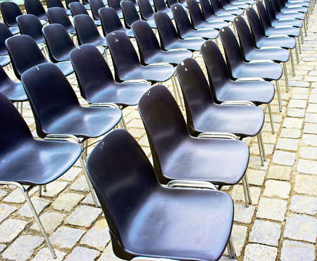 Raw of chairs photo