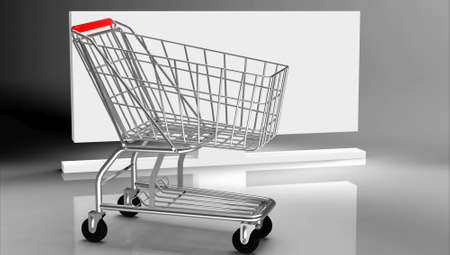 Shopping cart Stock Photo - 10951891