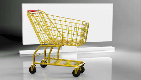 Shopping cart- made of gold! photo