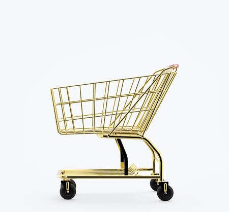 Gold shopping cart photo