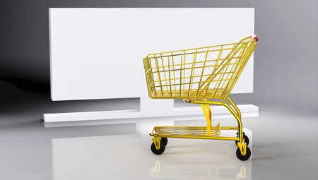 Shopping cart Stock Photo - 10951887