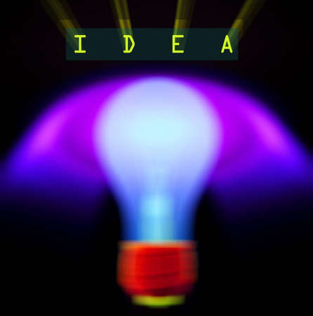 Light bulb and puzzle photo