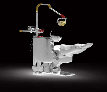 table and chairs: Dental chair