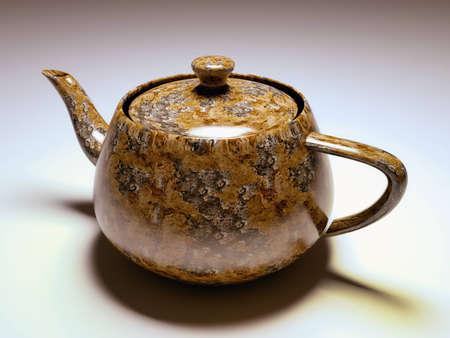 Travertine tobacco teapot photo