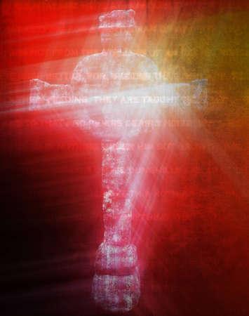 croce celtica: Croce celtica isolato su sfondo con antiche scritture