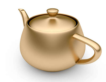 Gold teapot photo