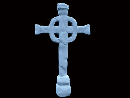 Celtic cross isolated  photo