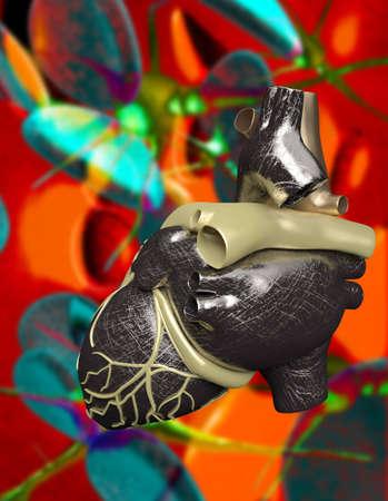 Model of artificial human heart photo