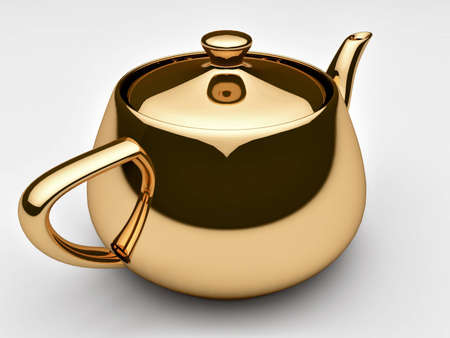 Gold teapot Stock Photo - 11224493