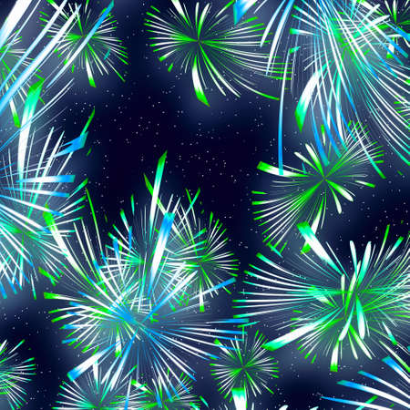 Beautiful fireworks on the black sky background photo
