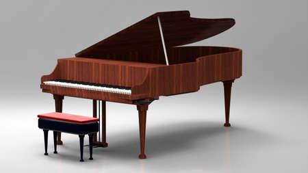 ebony wood: Grand piano