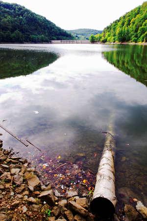 dolnoslaskie: Historic dam in Zagorze Slaskie - Poland Stock Photo