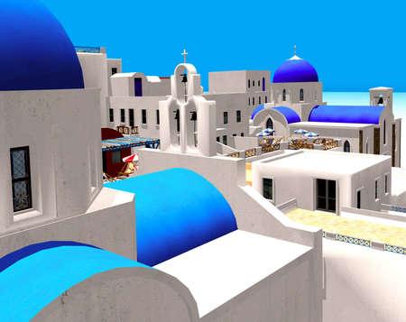 paisaje mediterraneo: Pueblo griego