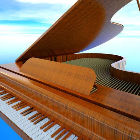 Grand piano photo