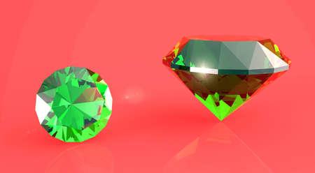 tsavorite: Emeralds  Stock Photo