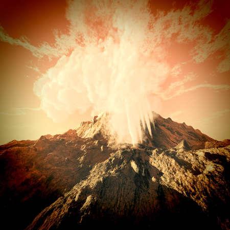 uitbarsting: Vulkanische uitbarsting