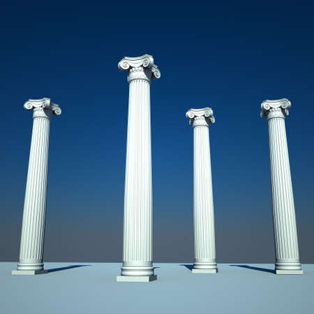 Classical style columns in ionic order  photo