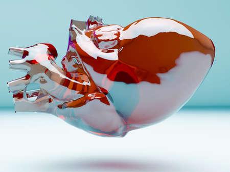 corazon humano: Modelo del coraz�n humano artificial Foto de archivo
