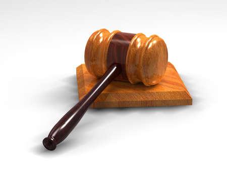 Judge gavel isolated on white background photo