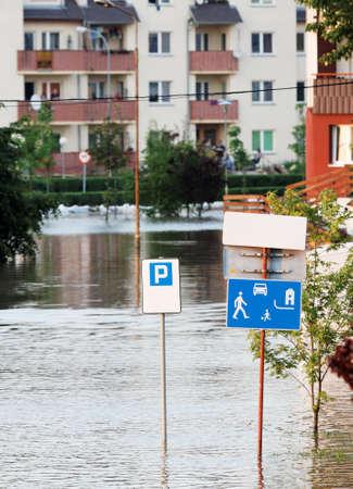 dolnoslaskie: Flooded street