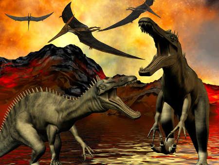doomsday: Dinosaur doomsday Stock Photo