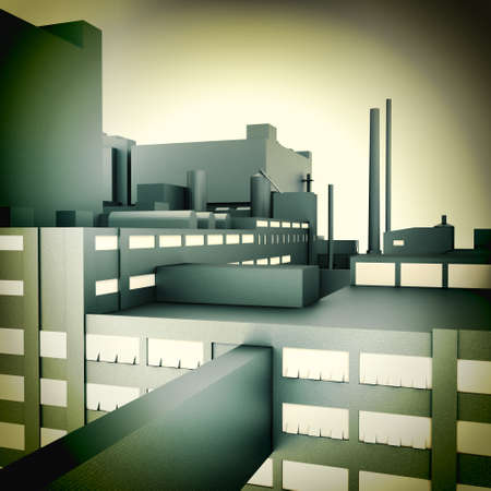 Moderne Fabrik
