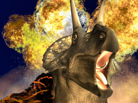 Dinosaur doomsday - diceratops photo