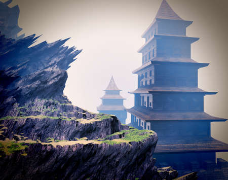 山で禅仏教寺院
