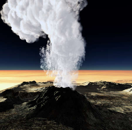 erupt: Volcanic eruption   Stock Photo