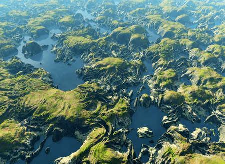 rio amazonas: Vista del r�o Amazonas a vuelo de p�jaro