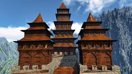 山中、禅仏教寺院