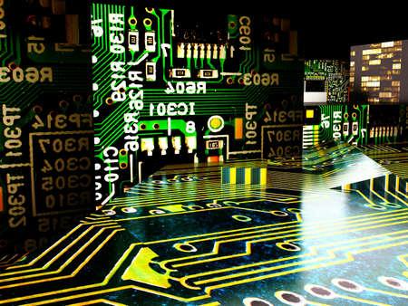 Japanische elektronische Fabrik Standard-Bild