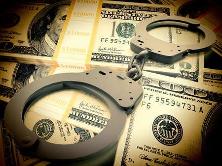 Financial fraud concept Stock Photo