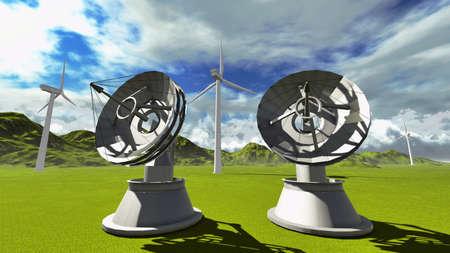Satellite dishes photo