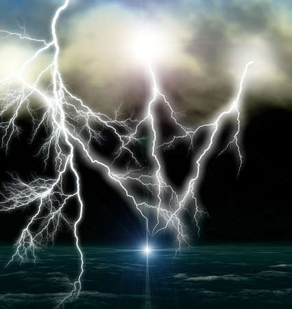 electric current: Lightning galore Stock Photo