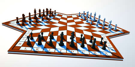 Three-handed chess Stock Photo - 12882630