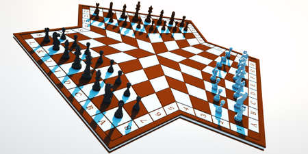 Three-handed chess photo