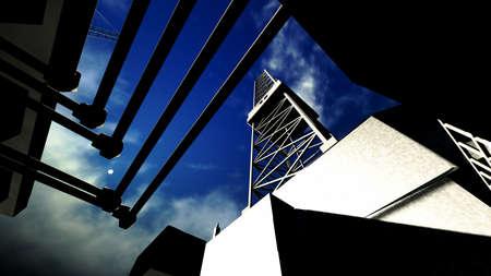 torre de perforacion petrolera: Torre de perforaci�n petrolera Foto de archivo