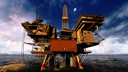 Oil platform Stock Photo - 12883098