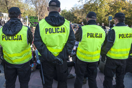 Polish police in action