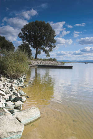 Typical Polish lakescape in the south Stock Photo - 12993264