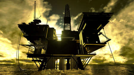 Oil rig Stock Photo - 12989393