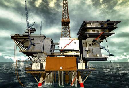 Oil rig Stock Photo - 12989395