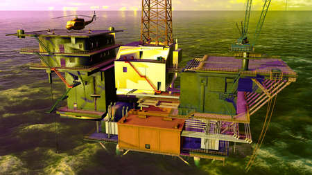 Oil platform Stock Photo - 12989467
