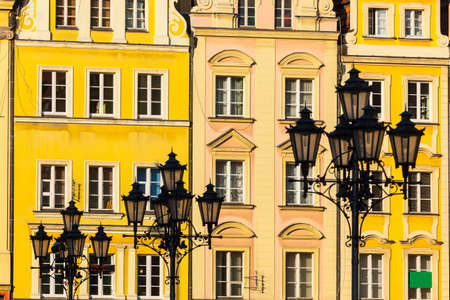 Market square tenements in Wroclaw, Poland  photo