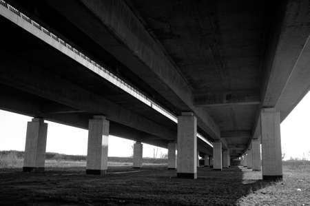 Under the highway. Urban scene photo