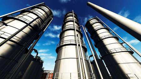 chemical plant: Raffinaderij
