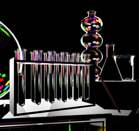 Science background with test tubes Stock Photo - 13720503