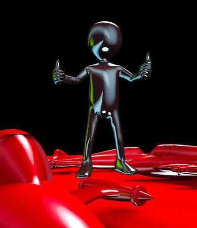 space invader: Alien creaure