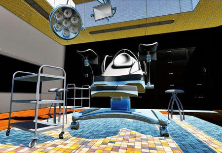 sala parto: ginecologo cabinet Archivio Fotografico